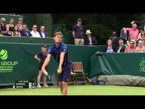 Highlights: Novak Djokovic (SRB) v David Goffin (BEL)
