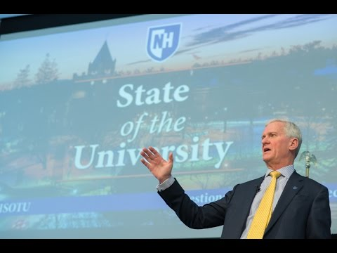 State of the University 2016 - The University of New Hampshire