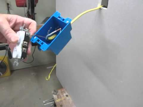 How install an electric outlet in an existing wall - YouTube