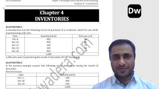 Lecture 8 - Inventories - Part 2 - CA Foundation - Accounts