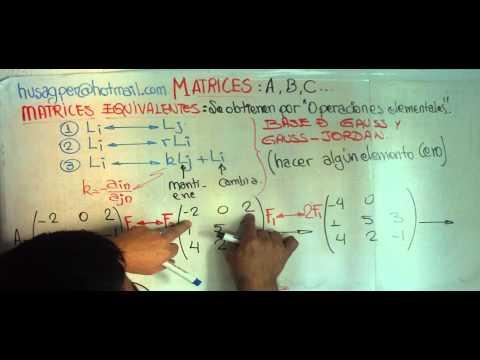 Matriz Aumentada METODO GAUSS JORDAN from YouTube · Duration:  12 minutes 11 seconds