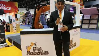 Mr. Gautam, Sales Director of Digi Robotics speaks at GITEX Future Stars