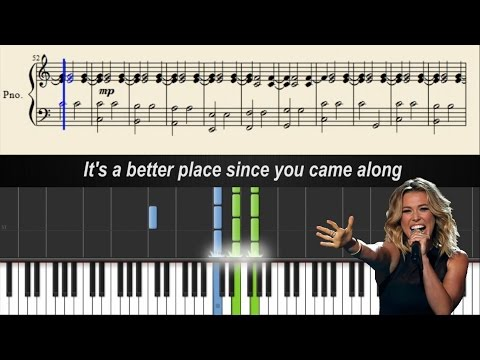 Rachel Platten - Better Place - Piano Tutorial + Sheets & Lyrics