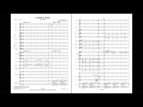 A Simple Song from Mass  Leonard Bernsteinarr Michael Sweeney