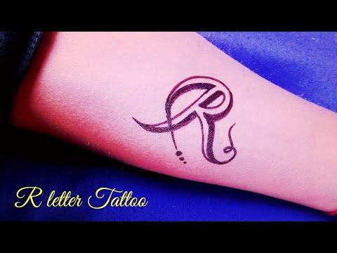 R Name Tattoo On Hand