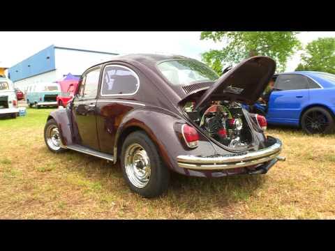1968 VW Cherry Black Chrome Walk Around