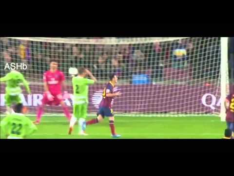 Barcelona vs Getafe 2014 (Goles y jugadas de Messi)