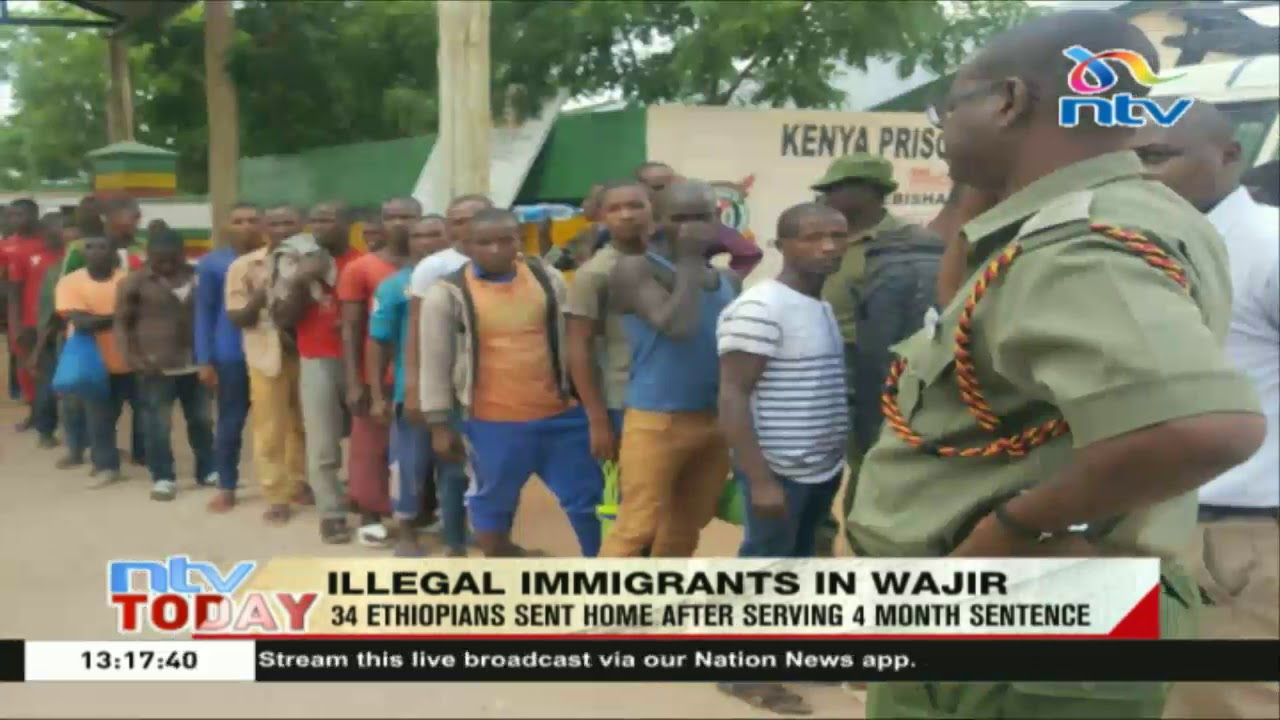 34 illegal immigrants from Ethiopia sent home after serving 4 month sentence
