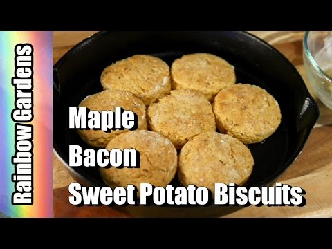 Maple Bacon Sweet Potato Biscuits - A Southern Specialty! YUM