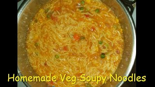 Homemade Veg Soupy Noodles || Simple and Quick