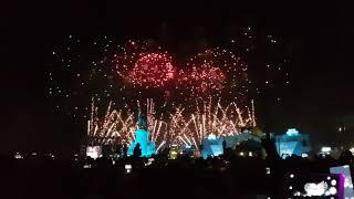 Passagem de ano @ Lisboa 2017 - Praça do Comércio - Fogo de Artifício