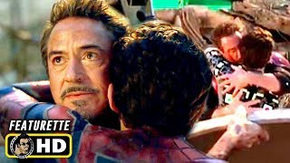 AVENGERS: ENDGAME (2019) Behind the Scenes - Tony Kisses Peter [HD]