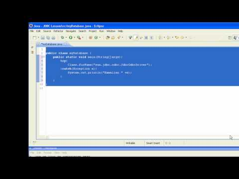 JDBC Lesson 4. Create Connection Java to Datase