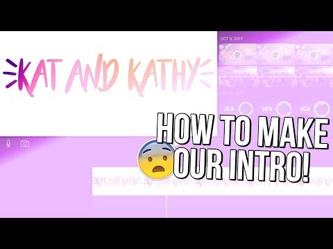 How To Make Our Intro! (iPad, iPhone) + Face Reveal?!?