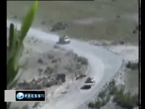 Afghan FIGHTERS attack on US supply convoy
