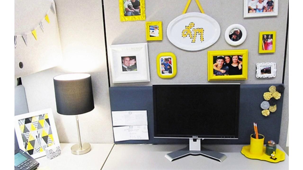 Oficinas cub culo decorar ideas youtube for Decoracion cubiculo oficina
