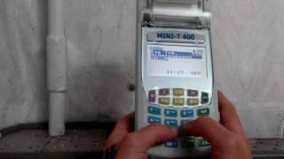 Работа на кассовом аппарате mini T400