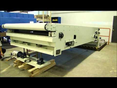 Custom Single Stage Extendable Belt Conveyor With Screw Jack Option