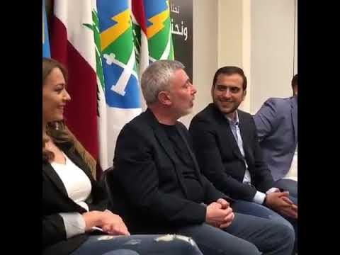 Sleiman Frangieh in a private meeting making a Gebran Bassil joke