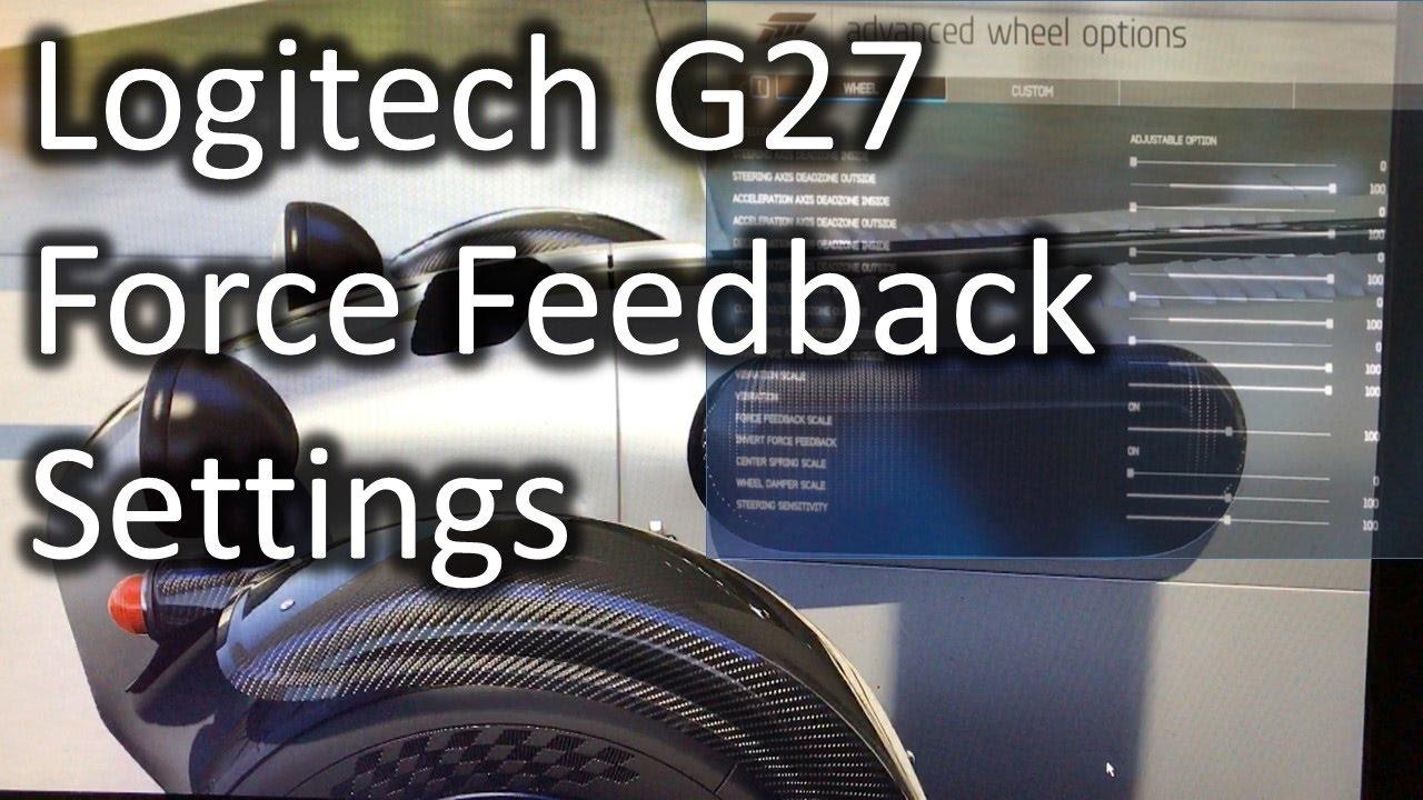 bda2a77df1f Simulator/Realistic Settings for Forza Apex Logitech G27 Force Feeback Setup  Settings HD