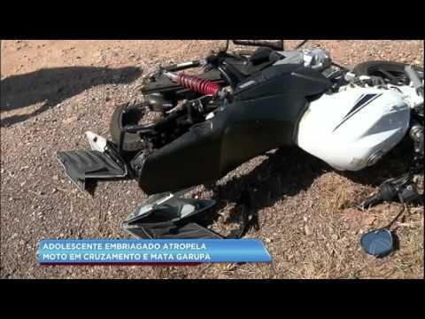 Adolescente embriagado atropela moto e mata passageira