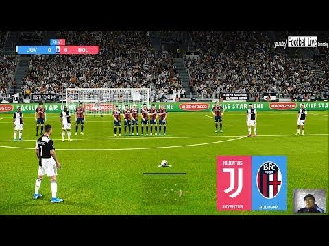 PES 2020 | Juventus Vs Bologna | C.Ronaldo Free Kick Goal - Scored 4 Goals POKER