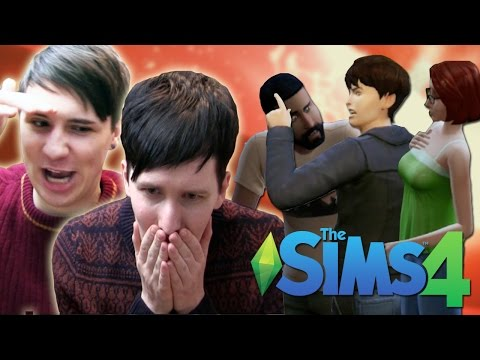 DIL THE HOMEWRECKER - Dan and Phil Play: Sims 4 #10