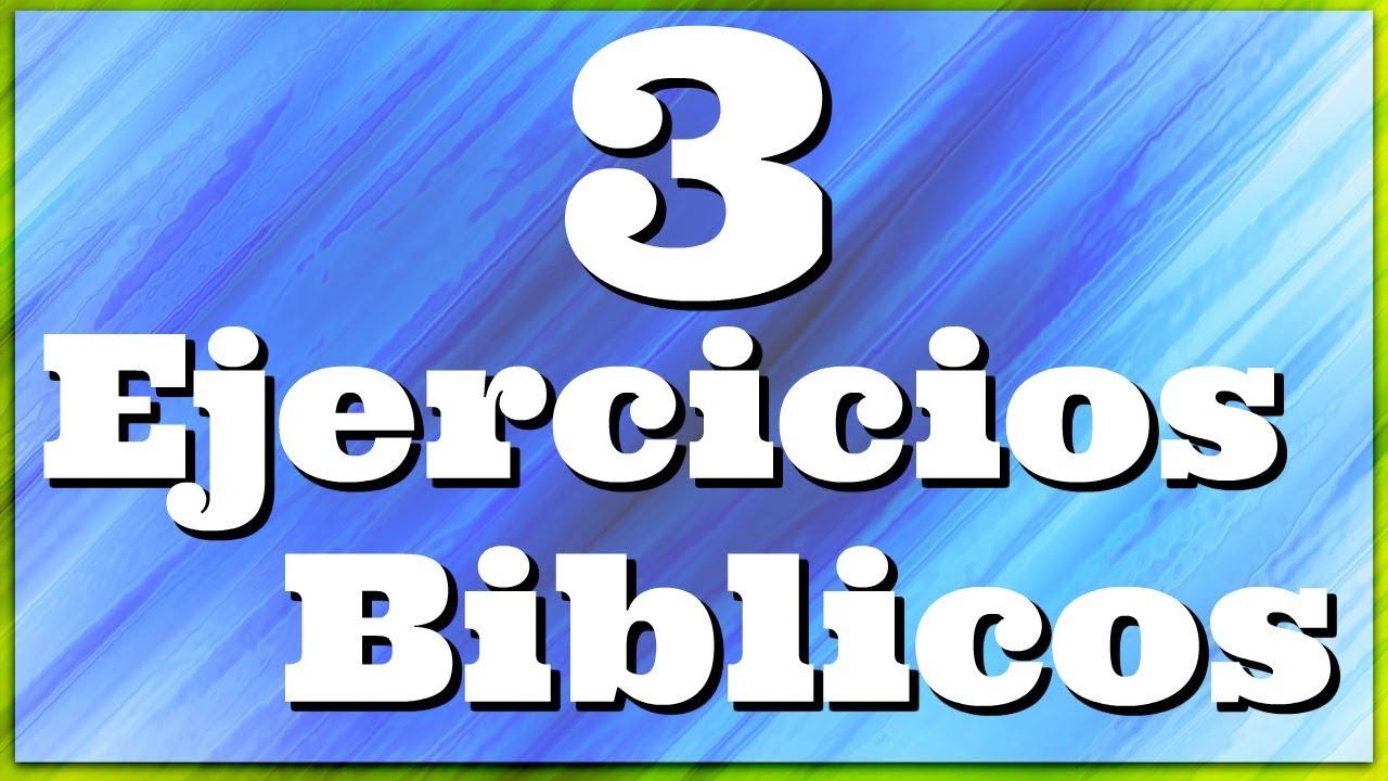 3 Ejercicios Biblicos Sociedad De Jovenes Youtube