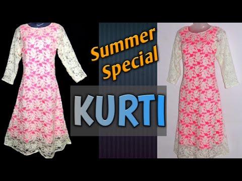 kurti | salwar suit | kameez cutting and stitching easy steps in hindi | Krishna Creation
