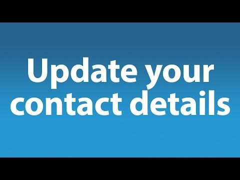 How To Update Your Contact Details