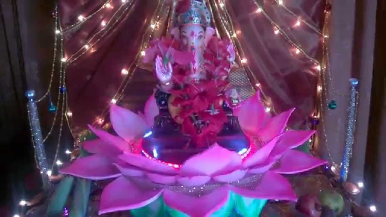 How To Make Lotus Flower With Chart Paper For Ganpati Decoration