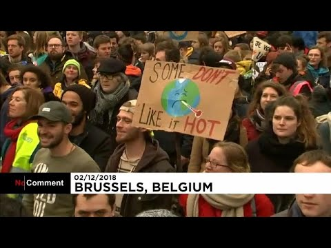 Thousands March In Brussels Climate Change Demonstration