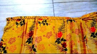 HOW TO MAKE WRAP_ON SAREE / READY TO WEAR SAREE (PART 1)