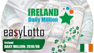 Ireland DAILY MILLION lotto results 18 Feb 2018   21:00