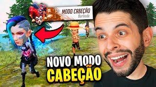 SÓ CAPA!! JOGUEI O NOVO MODO CABEÇÃO NO SERVIDOR AVANÇADO DO FREE FIRE!!