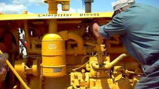 Starting old Caterpillar D8 dozer with pony motor