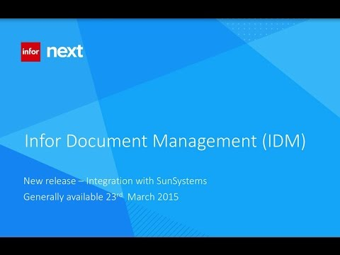Infor SunSystems DMS & iPOS
