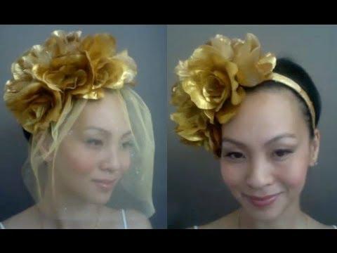 TANYA  v.2 - How to make a Floral Birdcage Veil Headband   DIY Tutorial 6c74163cb20