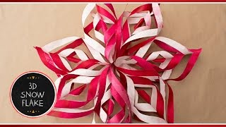 ❆ How To Make 3D Paper Snowflake Decorations Out Of Paper | DIY Tutorial ❆ Briunet ♥ thumbnail