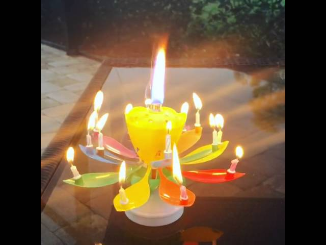 Wowzza The Amazing Birthday Candle - Rainbow