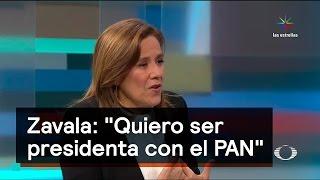 """Zavala: """"Quiero ser presidenta con el PAN"""" - Chapultepec 18"""