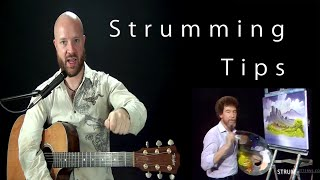 Tips for improving your strumming sound.  Fix a bad sounding...