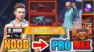 Free Fire new account to *PRO* LEVEL MAX - look how it became😱🔥