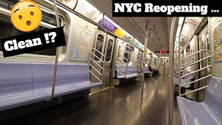 Riding NYC Subway For The First Time in 3 Months ! ? (New York City Reopens - COVID-19 UPDATE)
