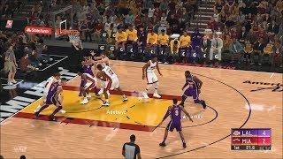 NBA 2K20 - Miami Heat vs Los Angeles Lakers - Gameplay (PS4 HD) [1080p60FPS]