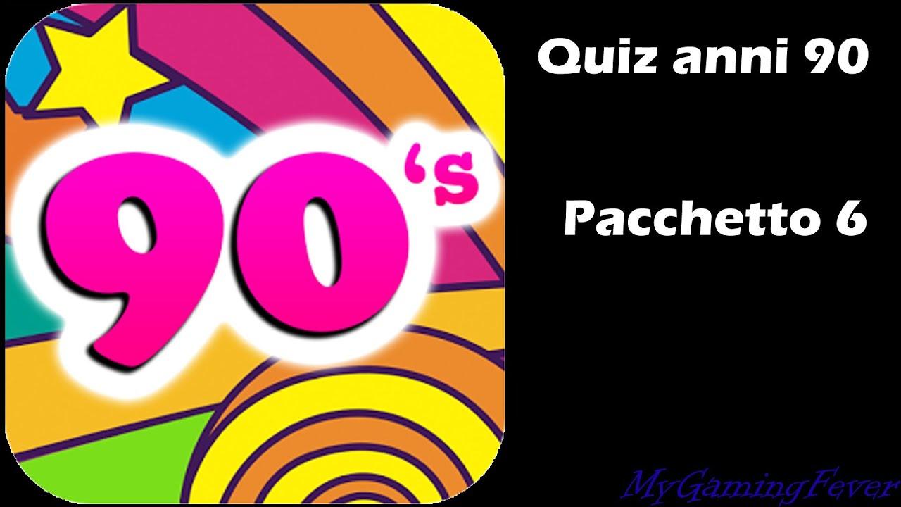 Quiz Anni 90 Soluzioni Pachetto 6 Youtube
