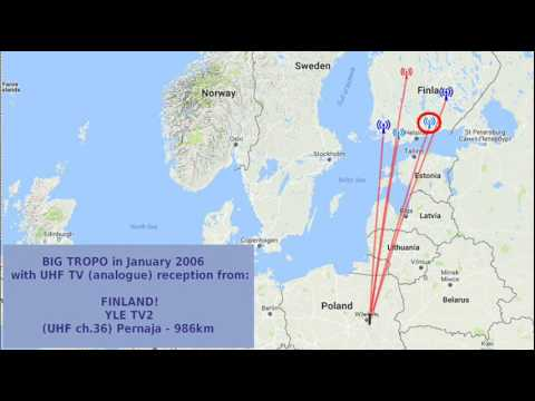 UHF TV-DX: MEGA TROPO with FINLAND & Estonia!