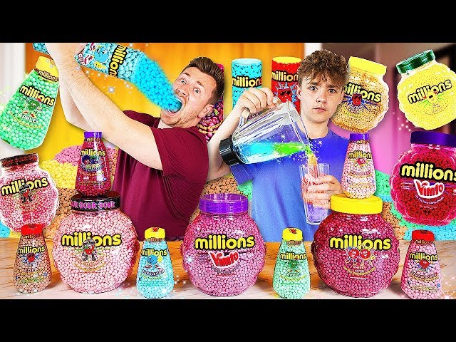 BROTHERS TRY EVERY FLAVOUR OF MILLIONS SWEETS AND BLEND THEM