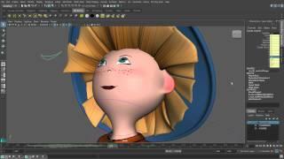 Создание 3-D мультфильмов в программе MAYA. Урок 6. Озвучивание персонажа, анимация рта