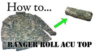 Army Packing Hack: How to Ranger Roll Your ACU Jacket - Folding Uniform for Basic Training